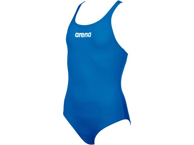 arena Solid Swim Pro Traje Baño Una Pieza Niñas, azul